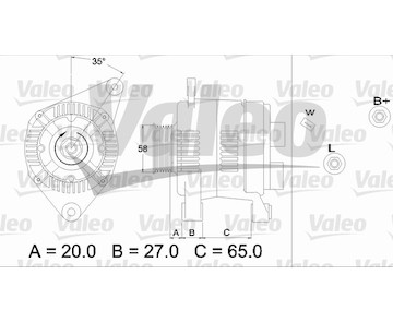 generátor VALEO 437198