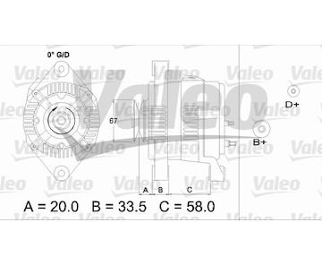 generátor VALEO 437207