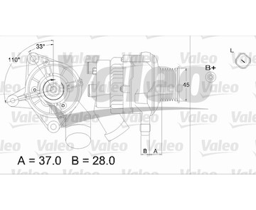 generátor VALEO 437319