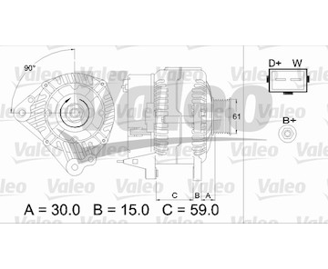 generátor VALEO 437386