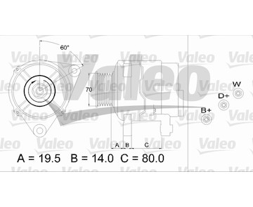 generátor VALEO 437391