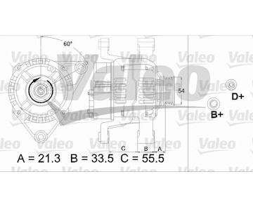 generátor VALEO 437466