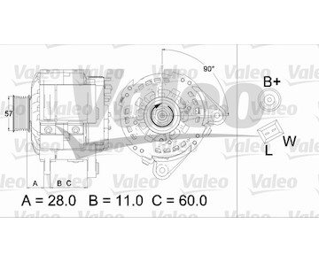 generátor VALEO 437477