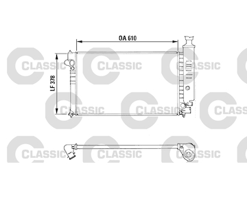 Chladič, chlazení motoru VALEO 310919