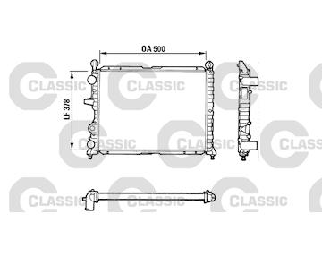 Chladič, chlazení motoru VALEO 311071