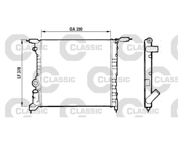 Chladič, chlazení motoru VALEO 316657