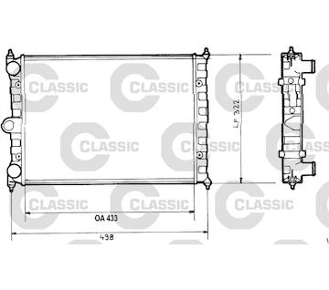 Chladič, chlazení motoru VALEO 316703