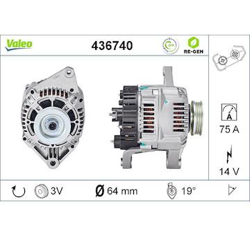 generátor VALEO 436740