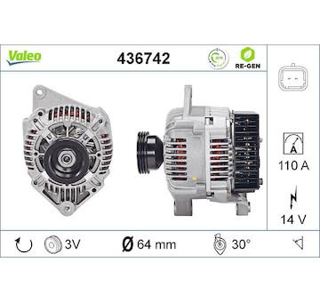 generátor VALEO 436742