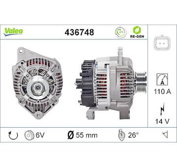 generátor VALEO 436748
