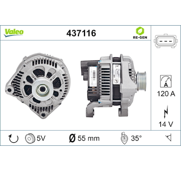 generátor VALEO 437116