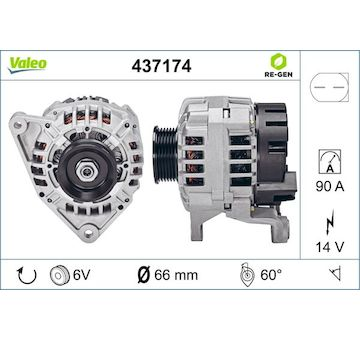 generátor VALEO 437174