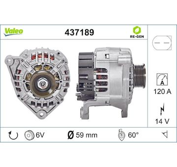 generátor VALEO 437189