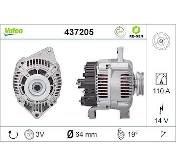 generátor VALEO 437205
