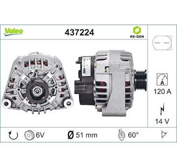generátor VALEO 437224