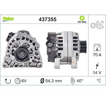 generátor VALEO 437355
