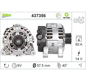 generátor VALEO 437356