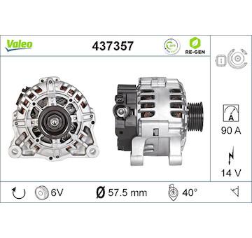 generátor VALEO 437357