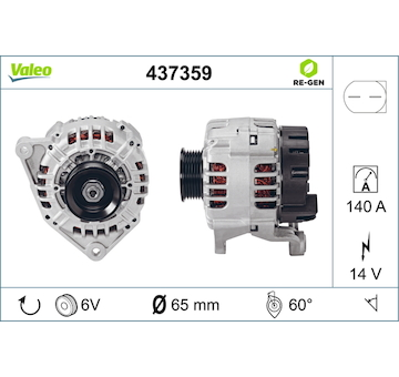 generátor VALEO 437359