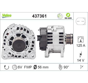 generátor VALEO 437361