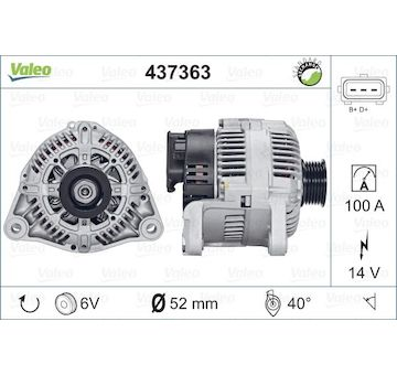 generátor VALEO 437363