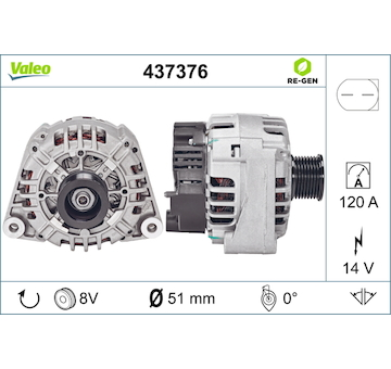 generátor VALEO 437376