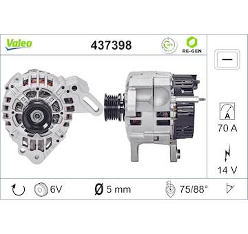 generátor VALEO 437398