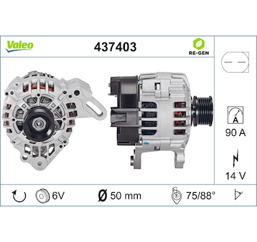 generátor VALEO 437403