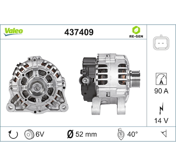 generátor VALEO 437409