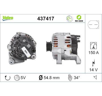 generátor VALEO 437417