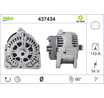generátor VALEO 437434