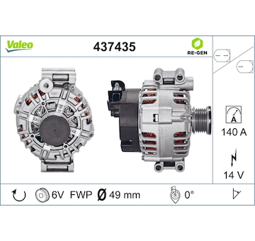 generátor VALEO 437435