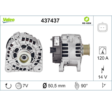 generátor VALEO 437437