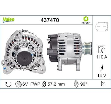 generátor VALEO 437470