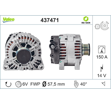 generátor VALEO 437471