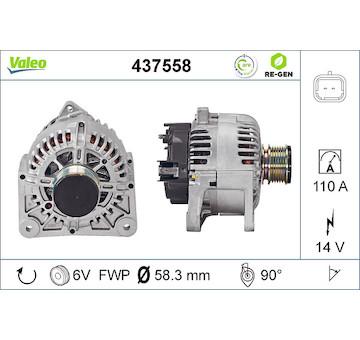 generátor VALEO 437558