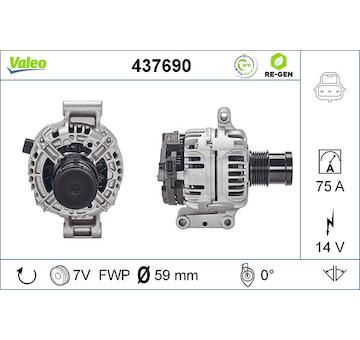 generátor VALEO 437690