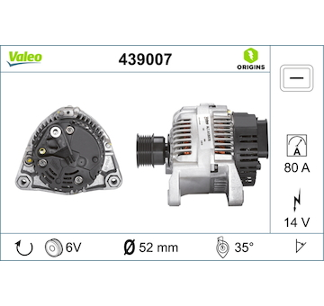 generátor VALEO 439007