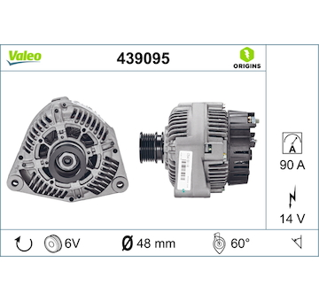 generátor VALEO 439095