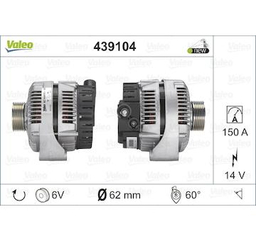 generátor VALEO 439104