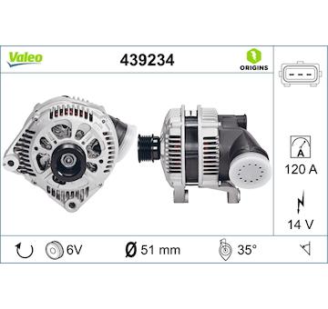 generátor VALEO 439234