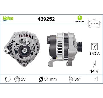 generátor VALEO 439252