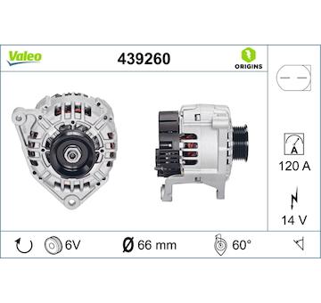 generátor VALEO 439260