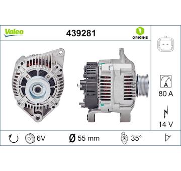 generátor VALEO 439281