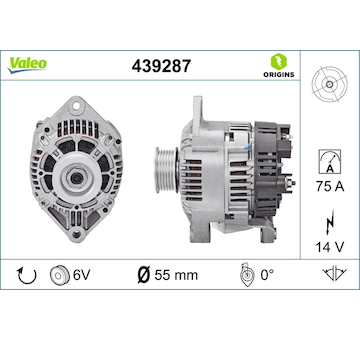 generátor VALEO 439287
