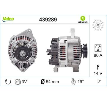 generátor VALEO 439289