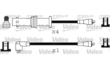 Sada kabelů pro zapalování VALEO 346208