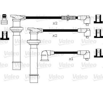 Sada kabelů pro zapalování VALEO 346077