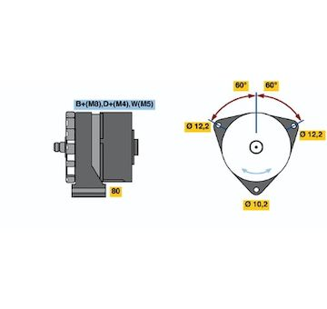 generátor BOSCH 0 986 041 570