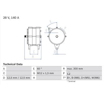 generátor BOSCH 0 986 045 990